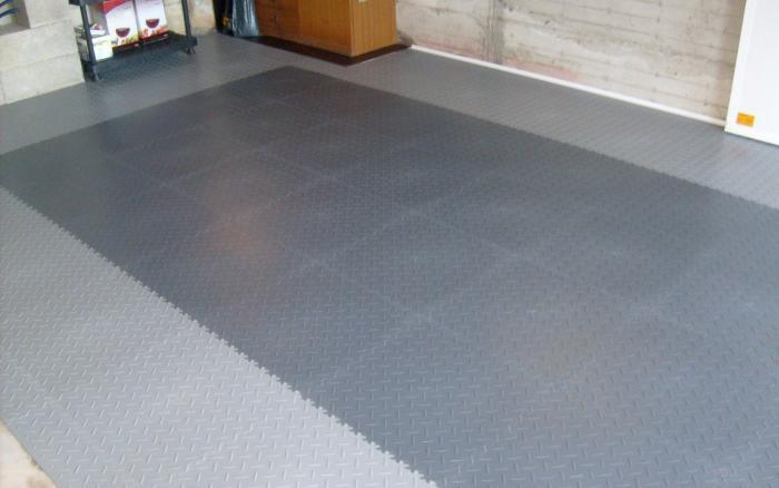 PVC Garagen Fliese Typ 2050 mit Oberfläche in Diamant Optik